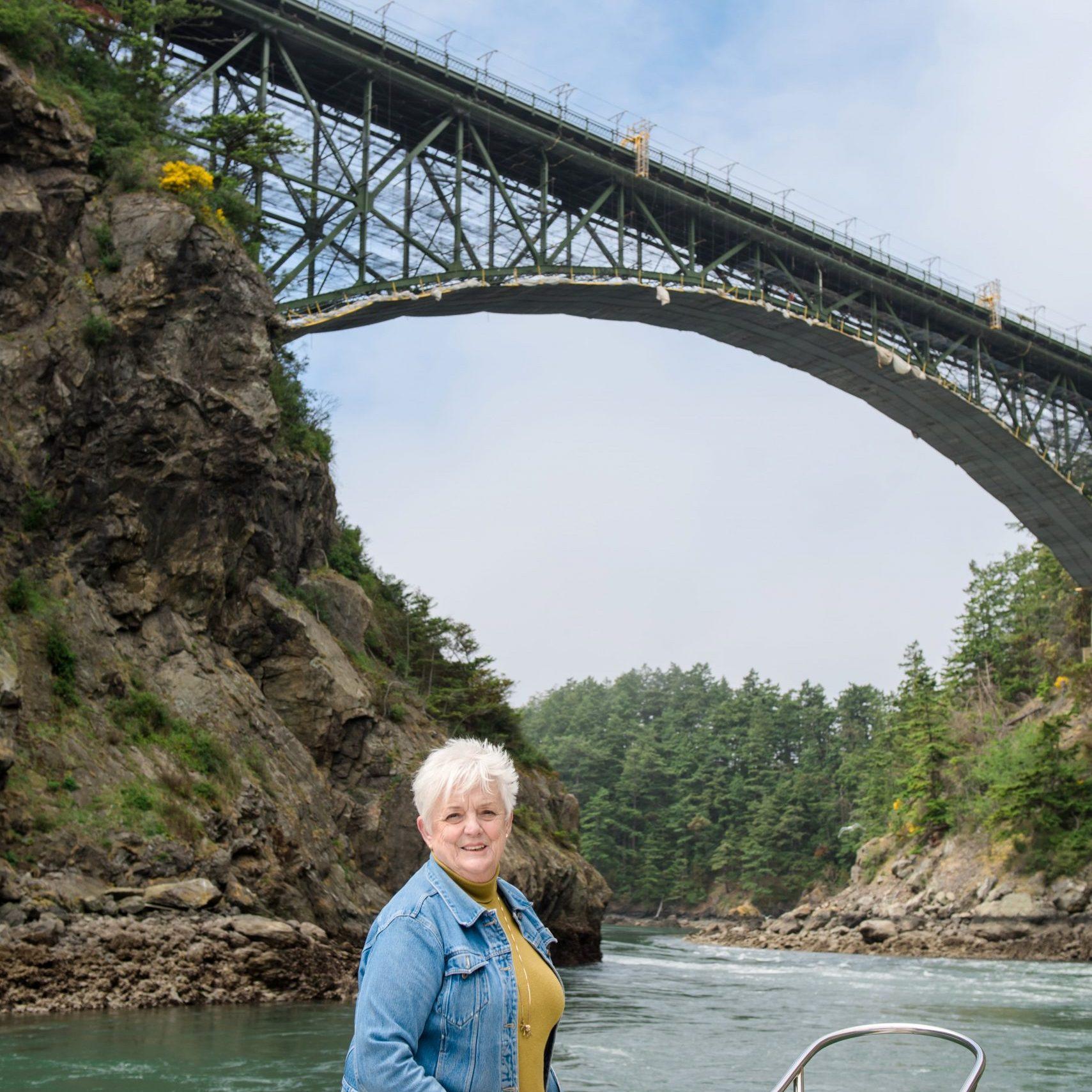Linda Earnhart, Broker, Windermere Real Estate, Boat, Deception Pass, Whidbey Island, Washington
